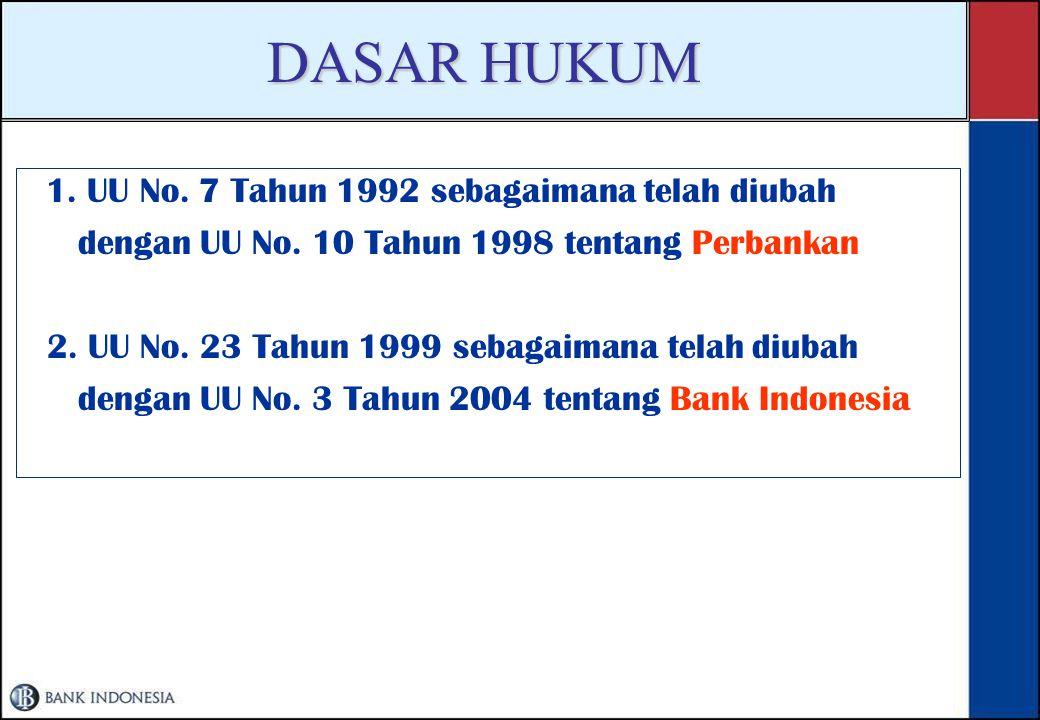 DASAR HUKUM dengan UU No. 10 Tahun 1998 tentang Perbankan