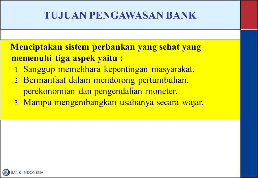 TUJUAN PENGAWASAN BANK