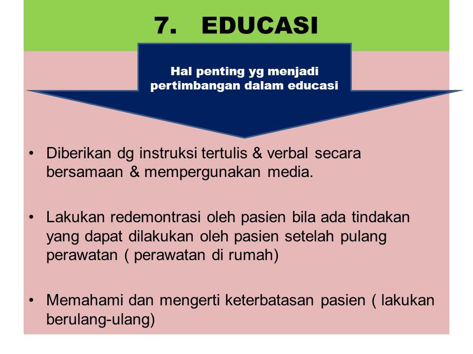 Hal penting yg menjadi pertimbangan dalam educasi