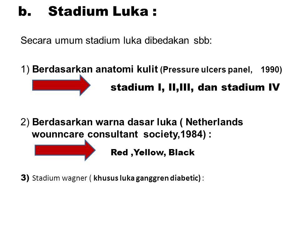 stadium I, II,III, dan stadium IV