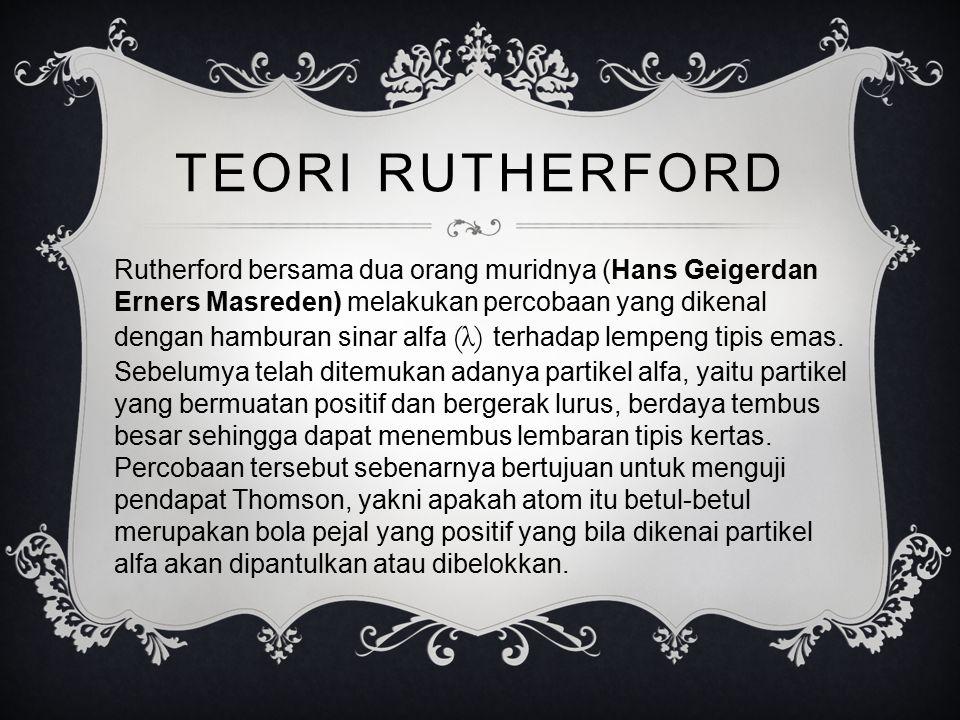 TEORI RUTHERFORD