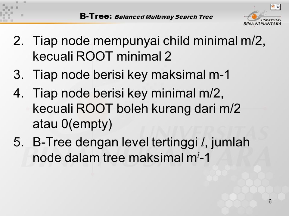 B-Tree: Balanced Multiway Search Tree