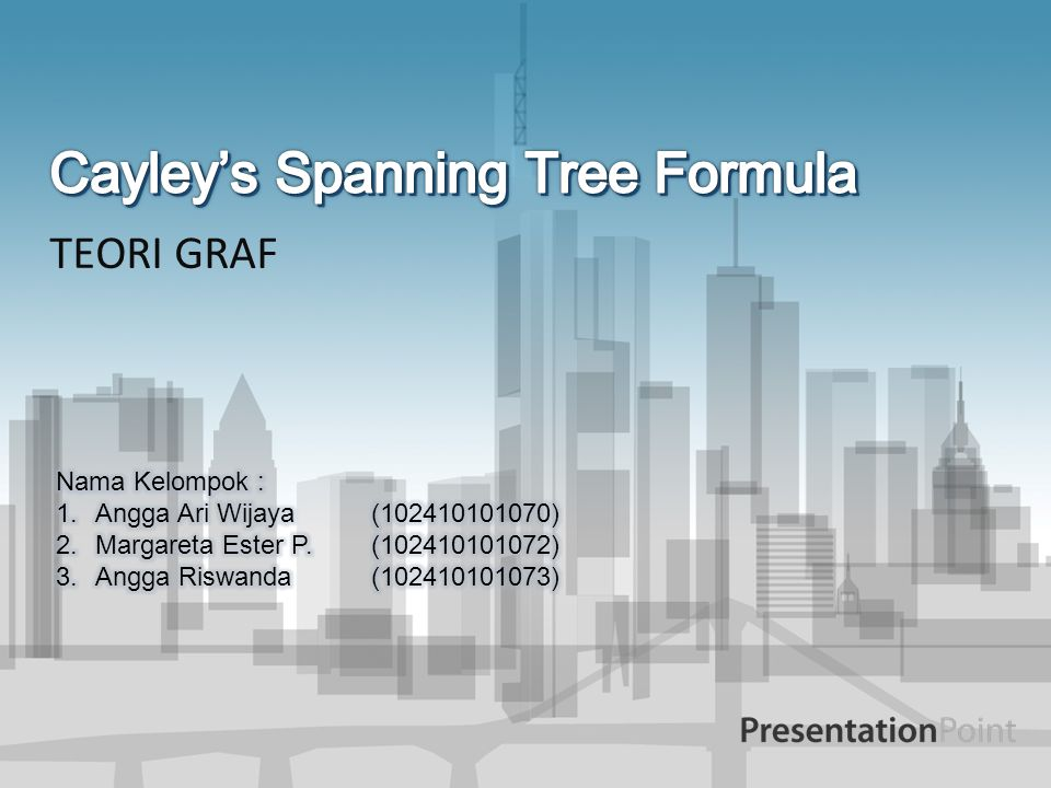 Cayley's Spanning Tree Formula