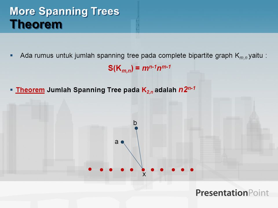 More Spanning Trees Theorem