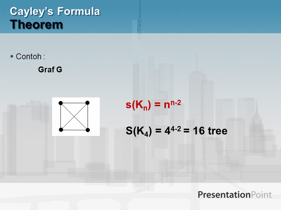 Cayley's Formula Theorem