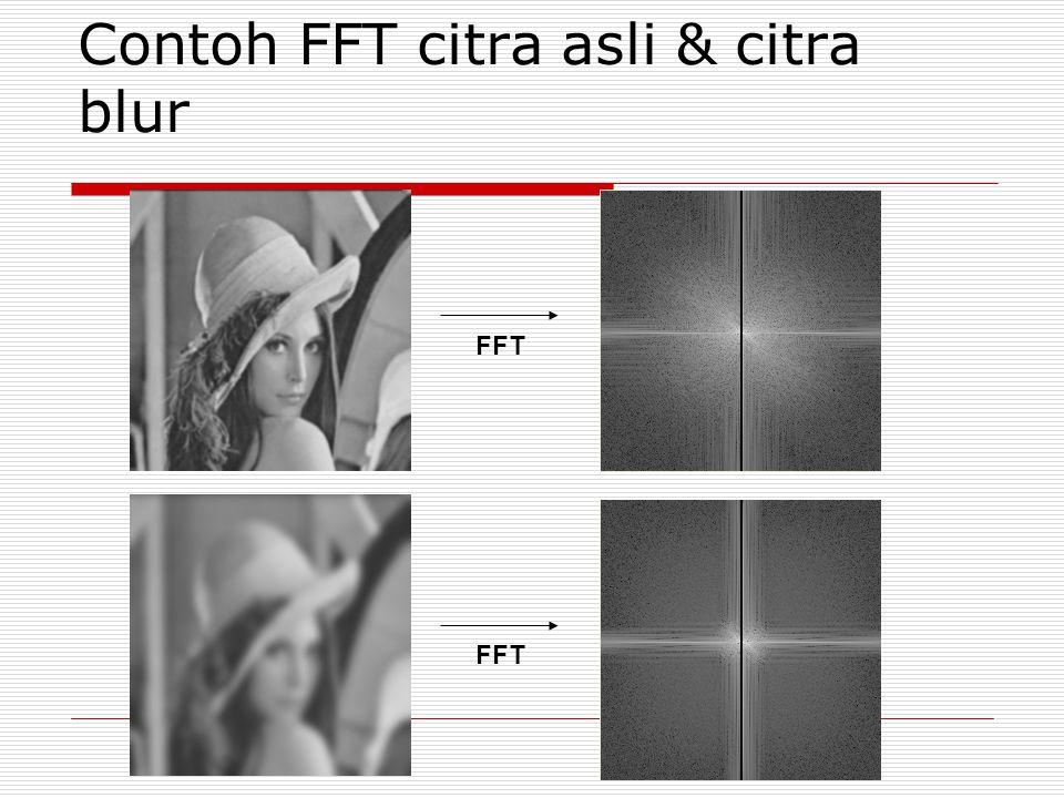Contoh FFT citra asli & citra blur