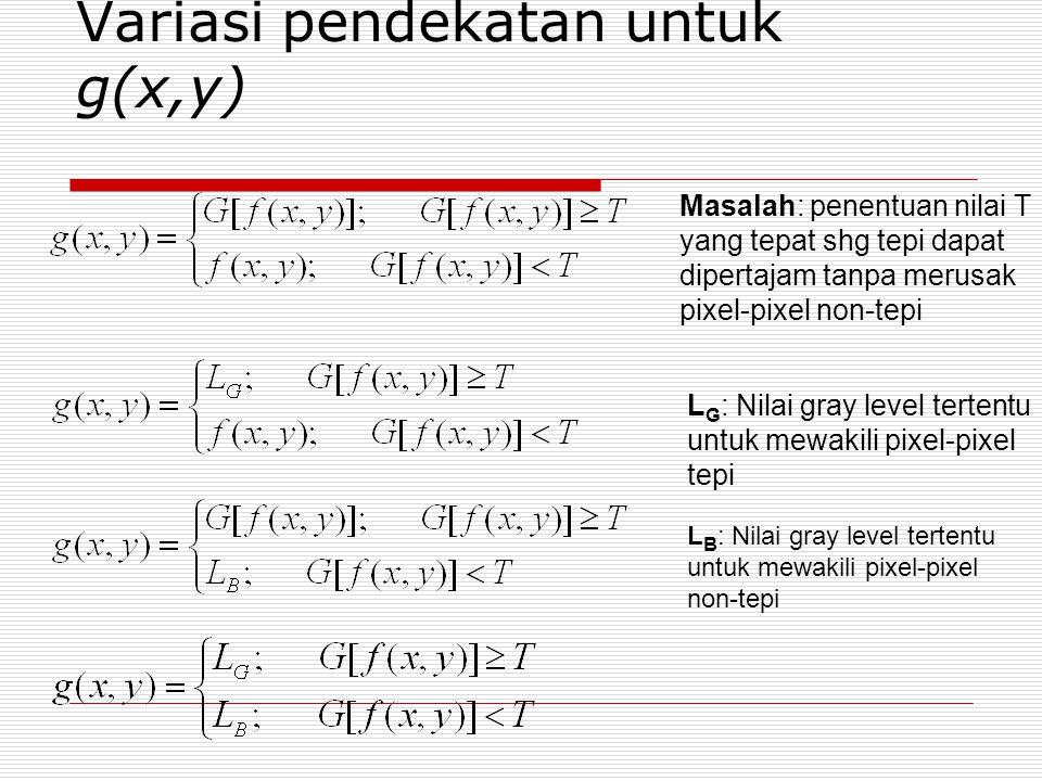 Variasi pendekatan untuk g(x,y)