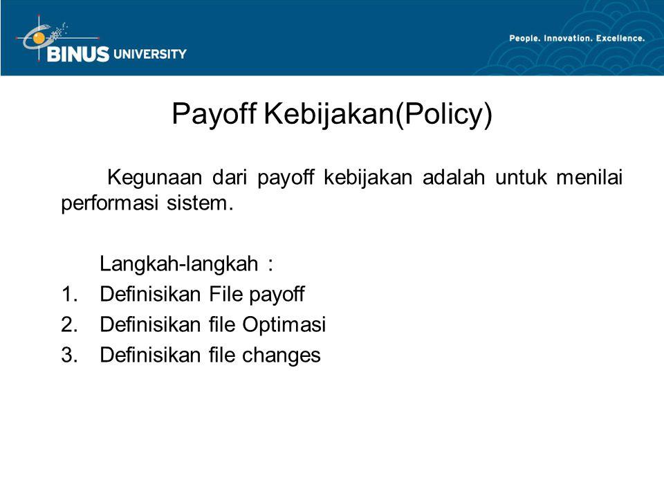 Payoff Kebijakan(Policy)