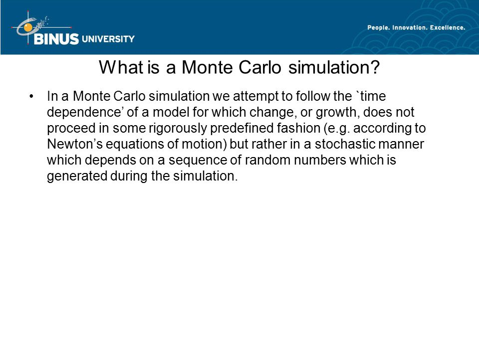 What is a Monte Carlo simulation