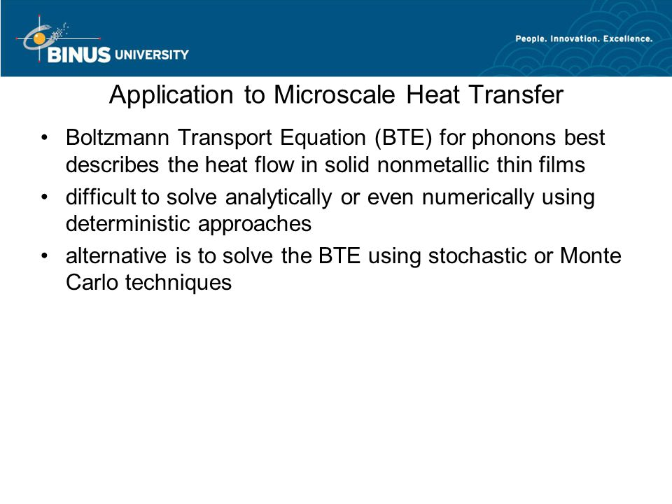 Application to Microscale Heat Transfer