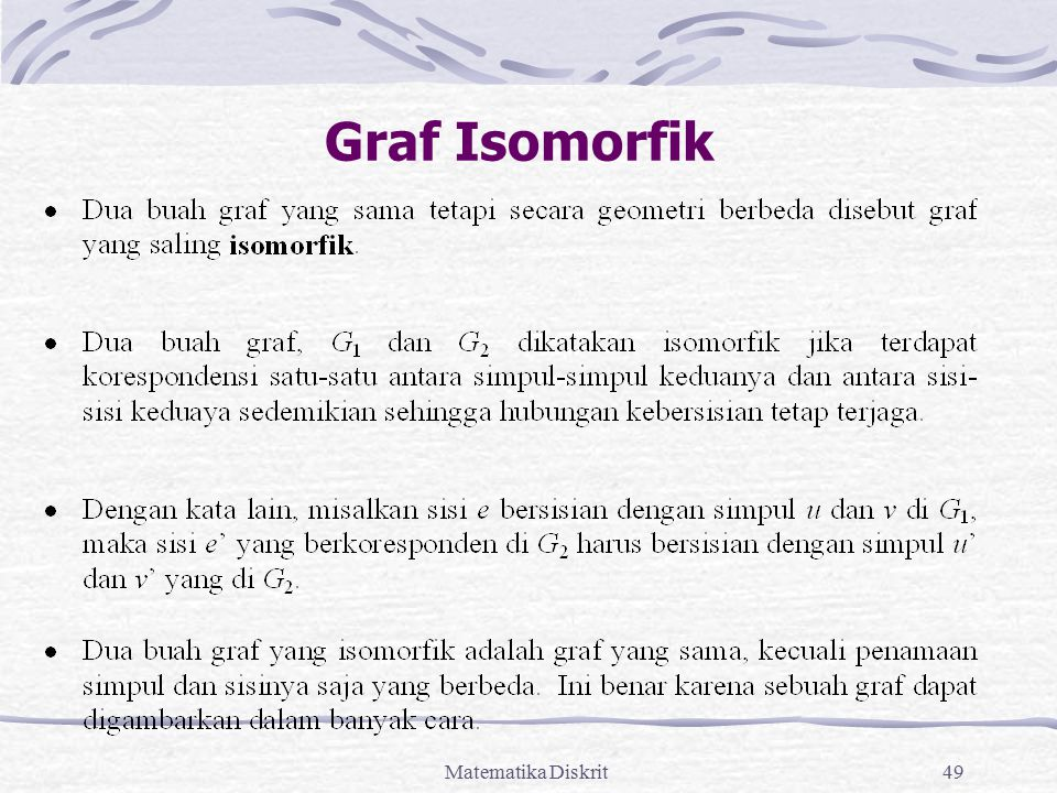 Graf Isomorfik Matematika Diskrit