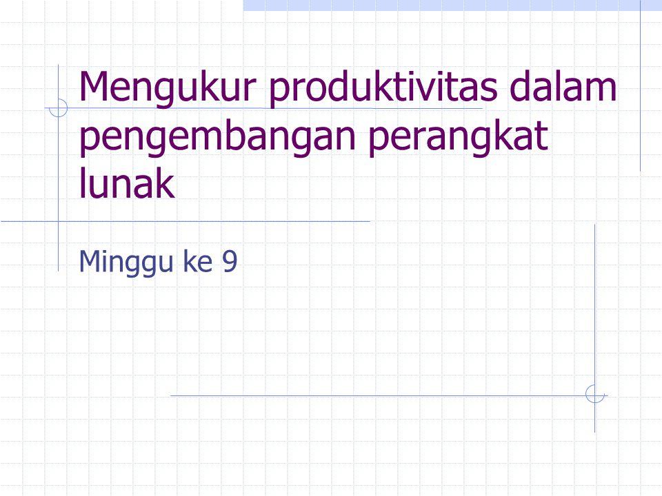 Mengukur produktivitas dalam pengembangan perangkat lunak