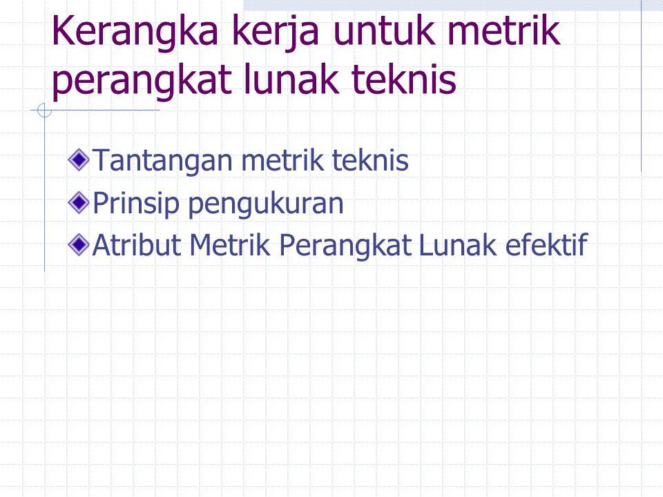 Kerangka kerja untuk metrik perangkat lunak teknis