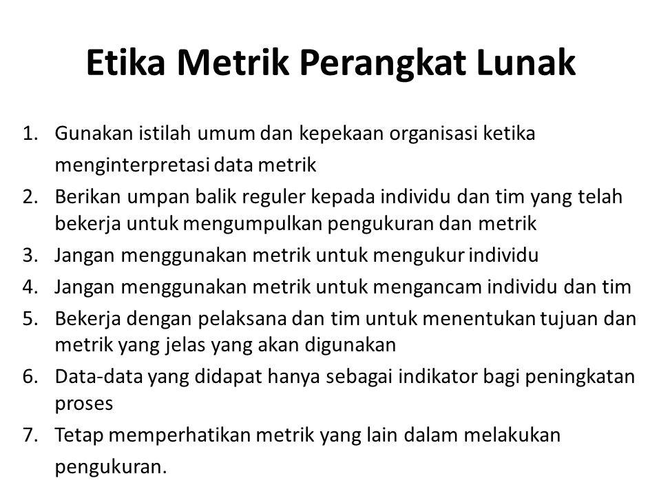 Etika Metrik Perangkat Lunak