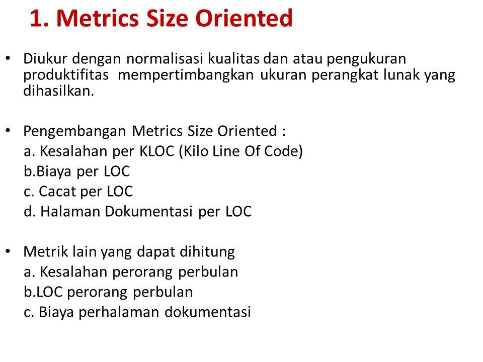 1. Metrics Size Oriented