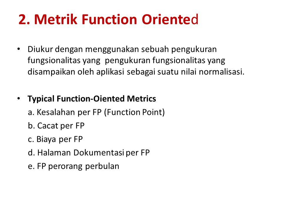 2. Metrik Function Oriented