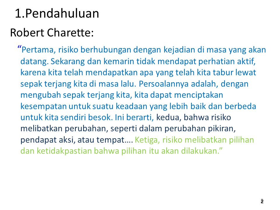 1.Pendahuluan Robert Charette: