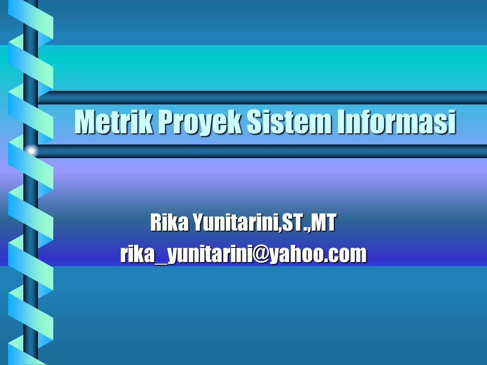 Metrik Proyek Sistem Informasi