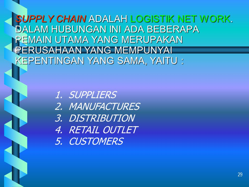 SUPPLY CHAIN ADALAH LOGISTIK NET WORK