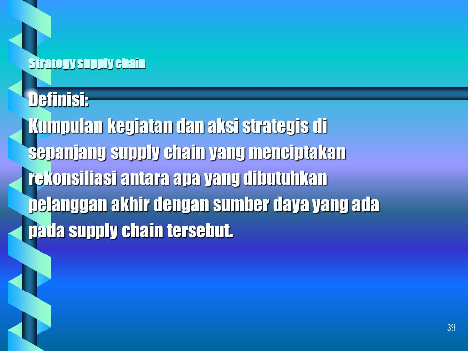 Strategy supply chain