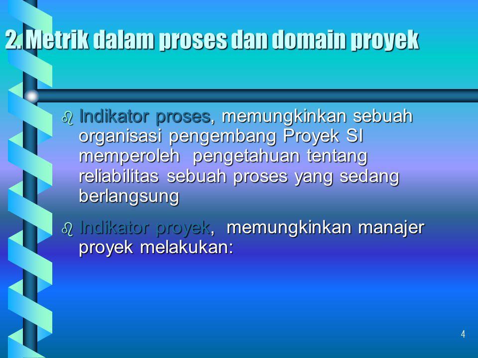2. Metrik dalam proses dan domain proyek