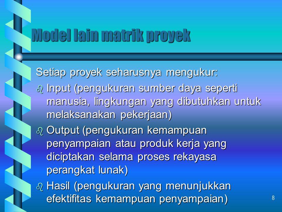 Model lain matrik proyek