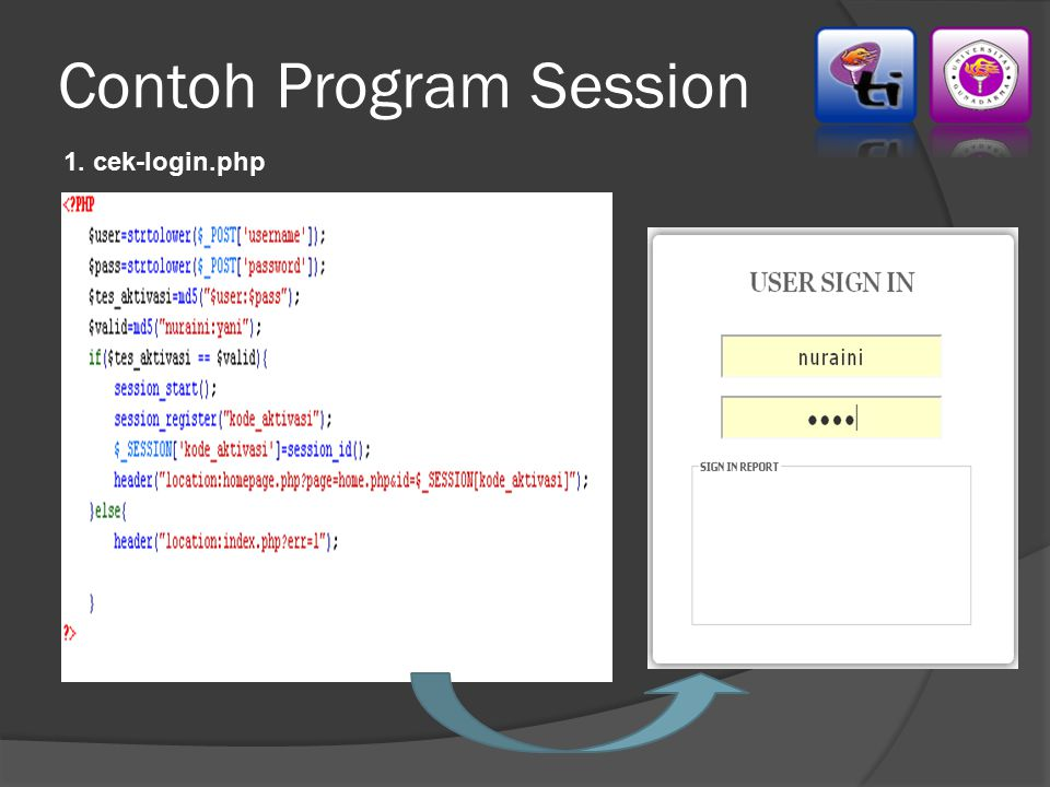 Contoh Program Session