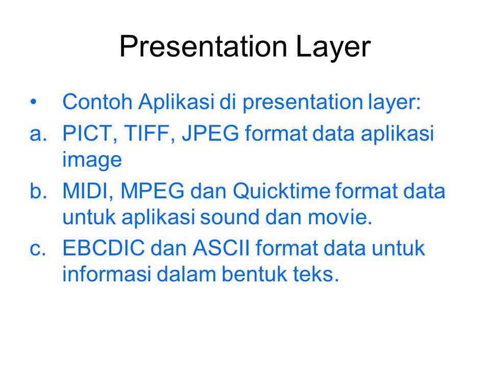 Presentation Layer Contoh Aplikasi di presentation layer: