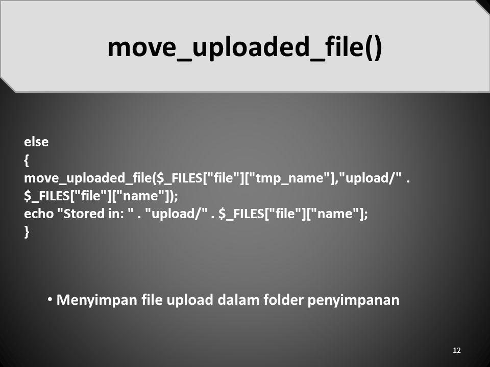 move_uploaded_file()