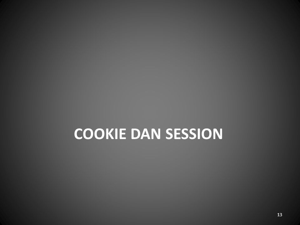 Cookie dan session