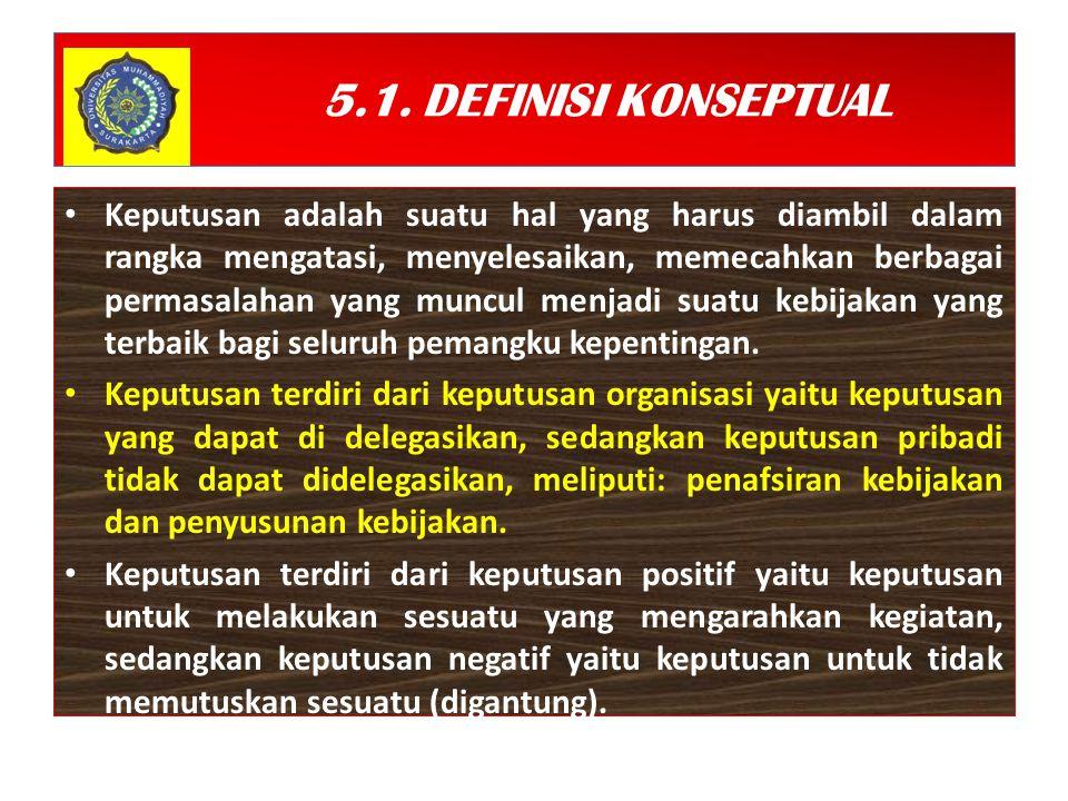 5.1. DEFINISI KONSEPTUAL