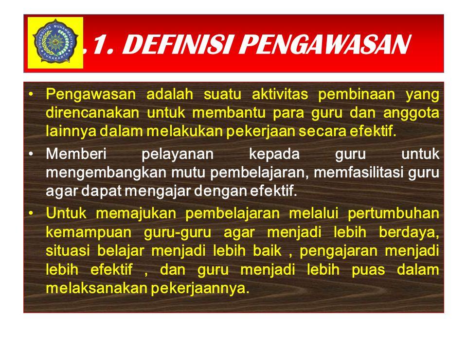 7.1. DEFINISI PENGAWASAN
