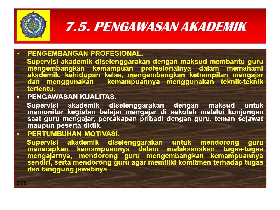 7.5. PENGAWASAN AKADEMIK PENGEMBANGAN PROFESIONAL.