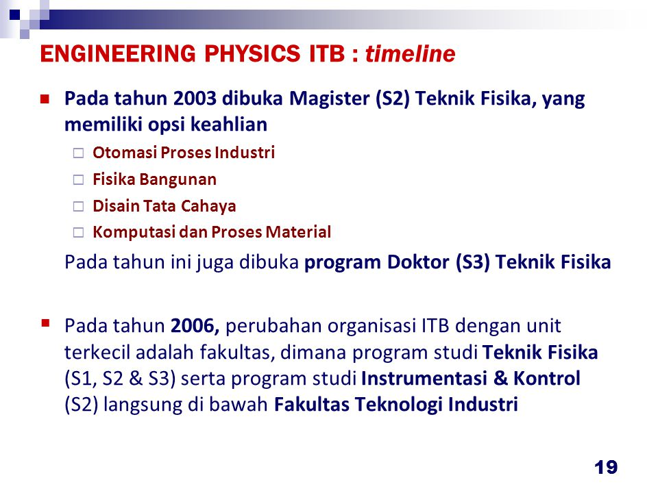 ENGINEERING PHYSICS ITB :