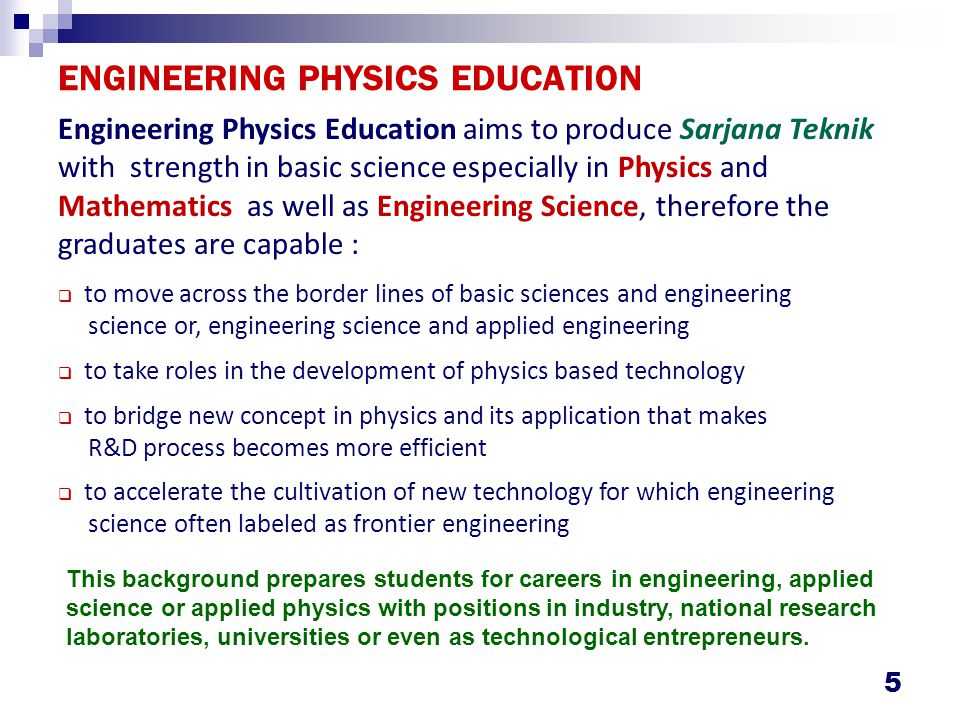 Knowledge Area for Engineering Physics