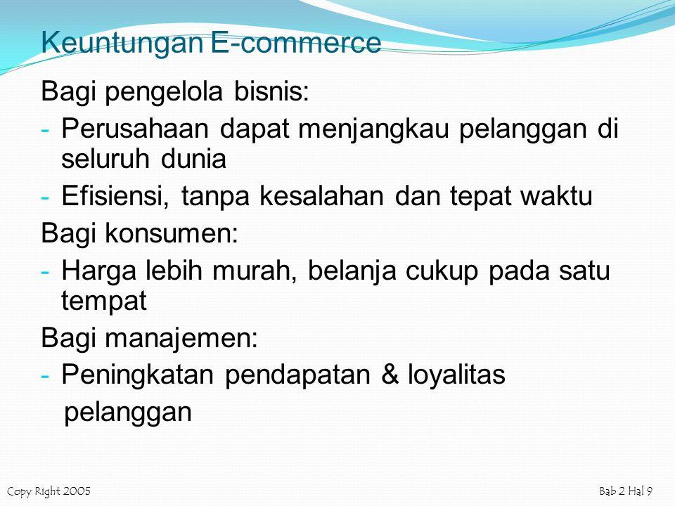 Keuntungan E-commerce