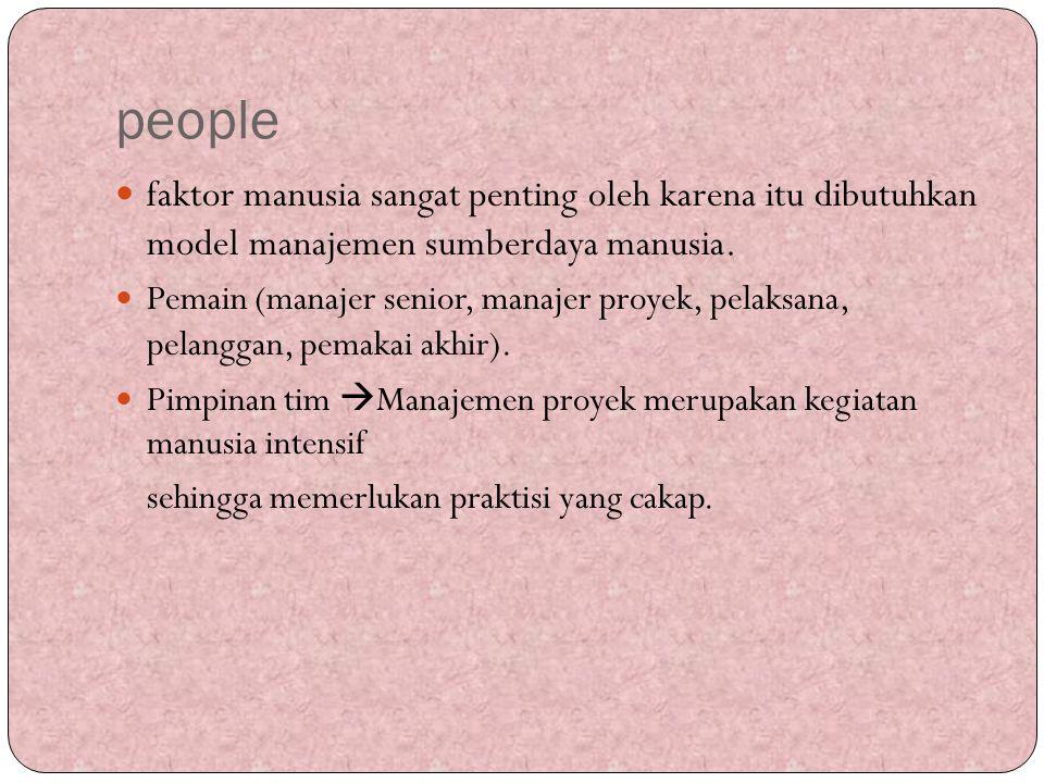 people faktor manusia sangat penting oleh karena itu dibutuhkan model manajemen sumberdaya manusia.