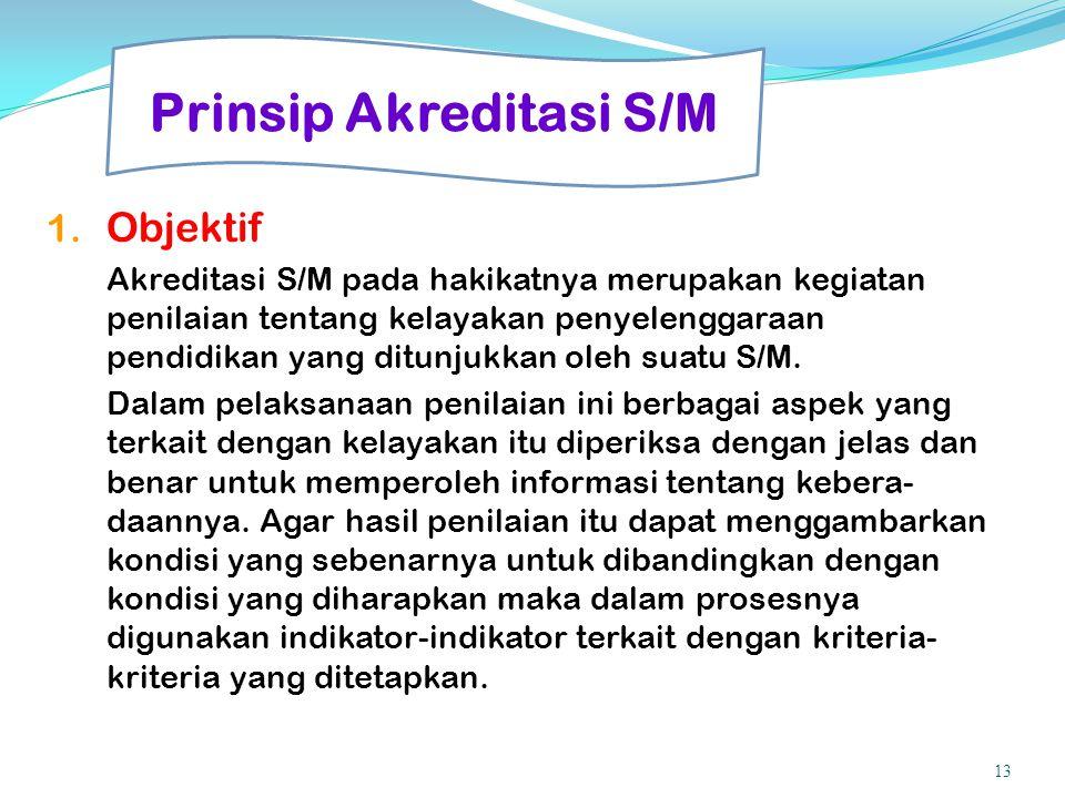 Prinsip Akreditasi S/M