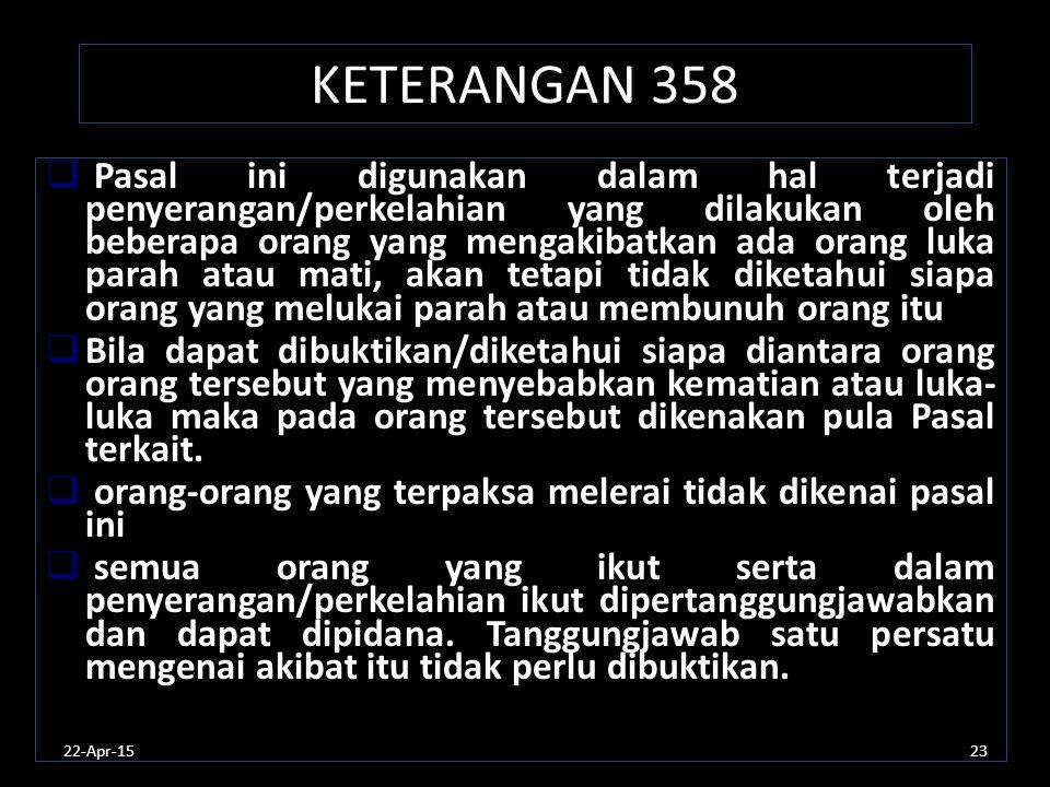 KETERANGAN 358