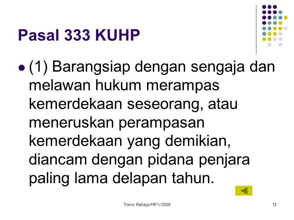 Pasal 333 KUHP