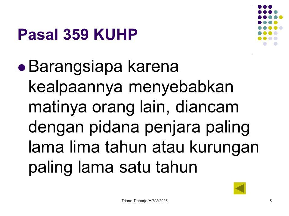 Pasal 359 KUHP