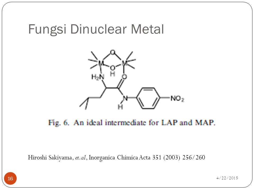 Fungsi Dinuclear Metal