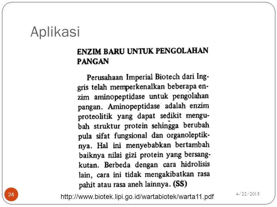 Aplikasi http://www.biotek.lipi.go.id/wartabiotek/warta11.pdf