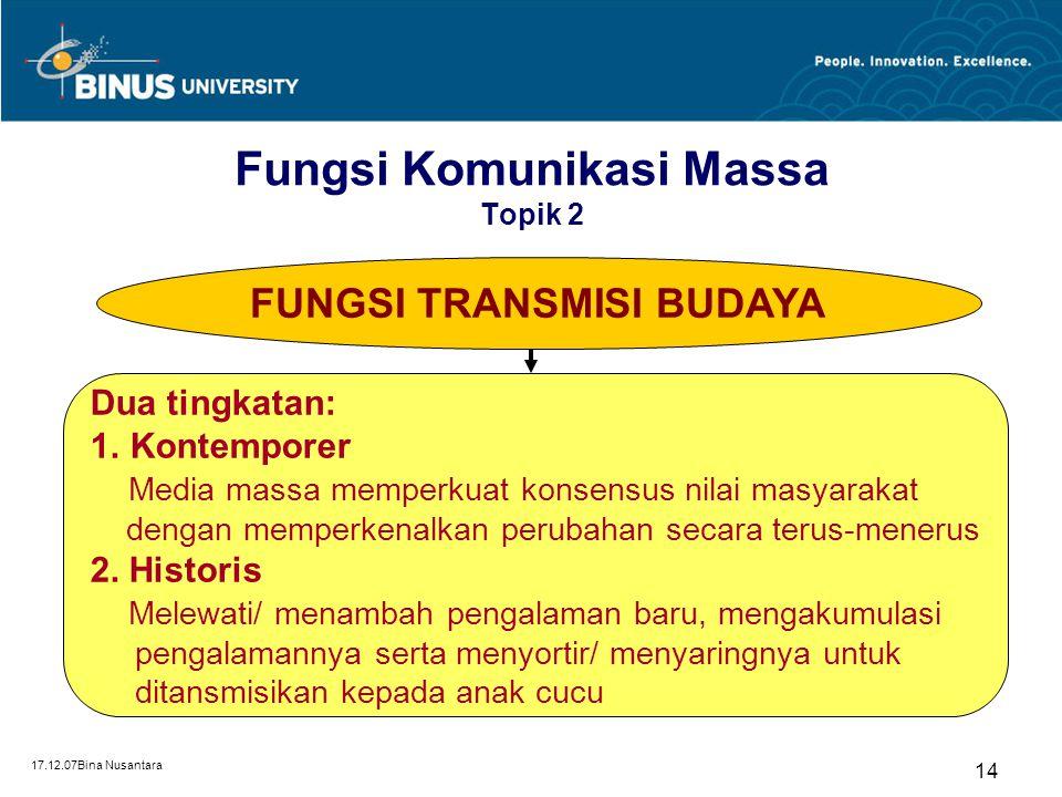 Fungsi Komunikasi Massa Topik 2