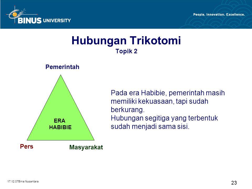 Hubungan Trikotomi Topik 2