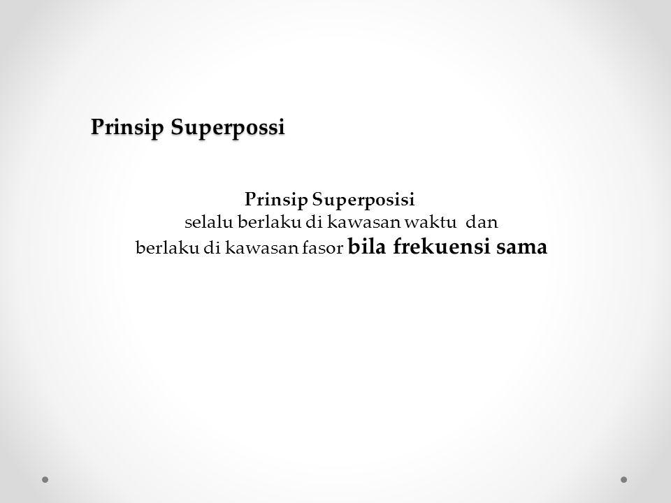 Prinsip Superpossi Prinsip Superposisi