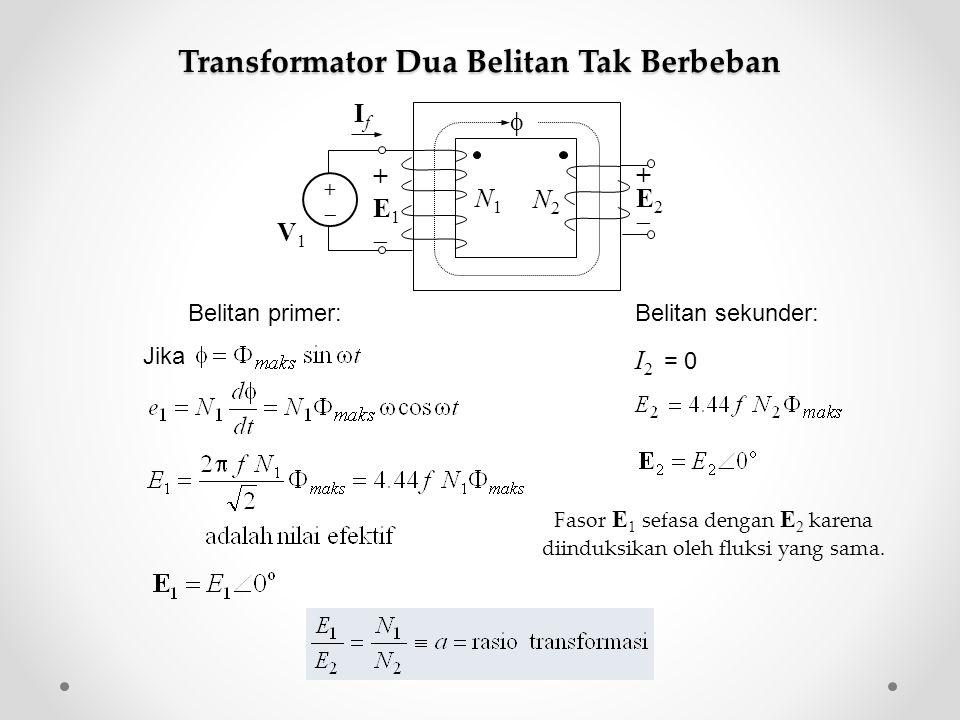 Transformator Dua Belitan Tak Berbeban