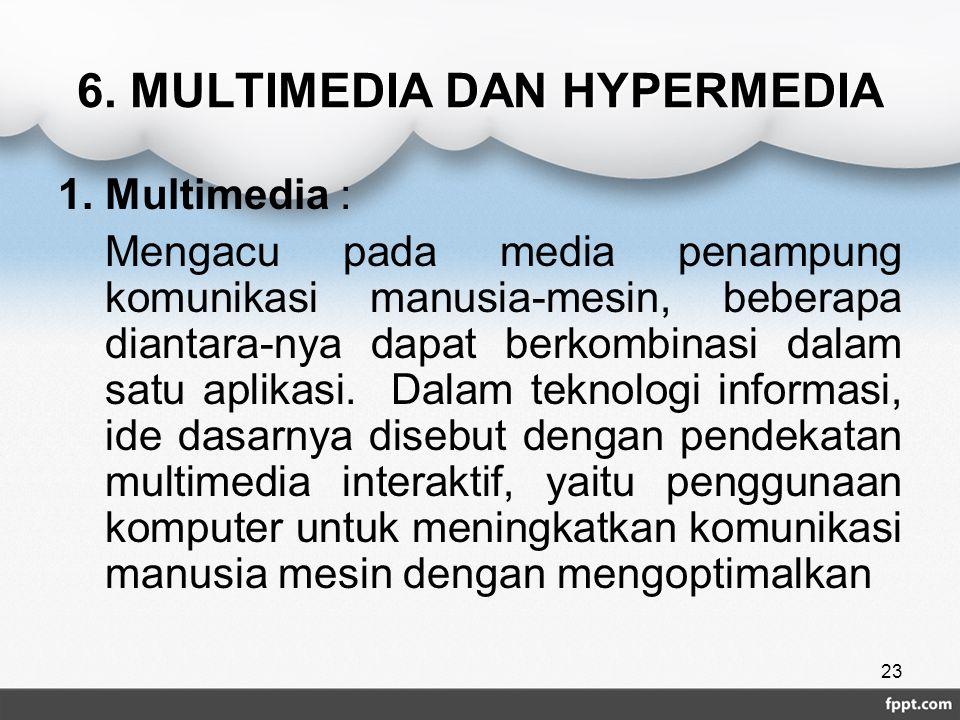 6. MULTIMEDIA DAN HYPERMEDIA