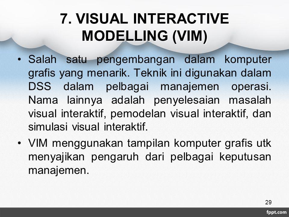 7. VISUAL INTERACTIVE MODELLING (VIM)