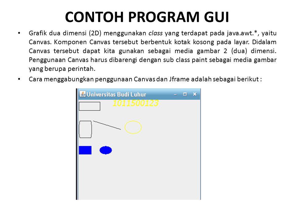 CONTOH PROGRAM GUI
